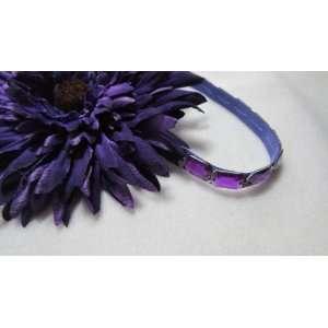 Extra Large Purple Daisy Flower Hair Clip and Elastic Headband Beauty