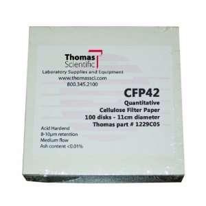 Thomas CFP42 110 Cellulose Quantitative Filter Paper, 11cm Diameter, 2
