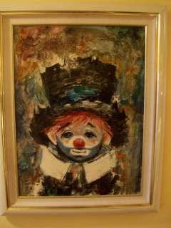 Ozz Franca Clown Original Signed Oil Painting
