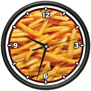 FRENCH FRIES Wall clock food fried potato gift Home & Kitchen