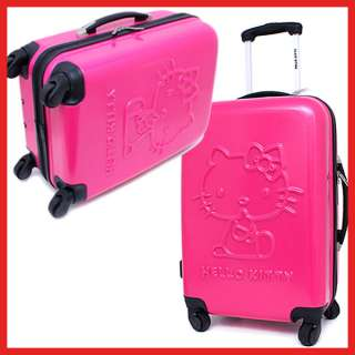 Sanrio Hello Kitty Trolley Bag Luggage Emblems Pink 20