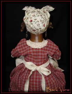 OOAK, Primitive Folk Art Doll, By Rochelle, Black Americana Mammy