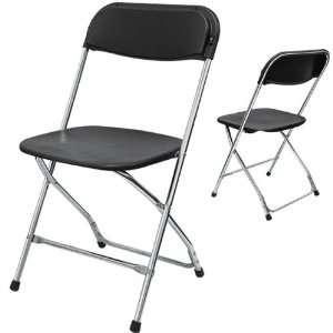 Phoenixx Plastic Folding Chair Color Black Chrome (6pcs