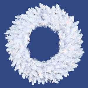 Spruce Christmas Wreath   Clear Lights by Gordon