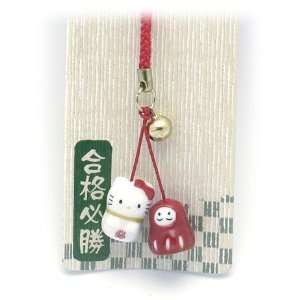 Hello Kitty Ceramic Lucky Cell Phone Strap
