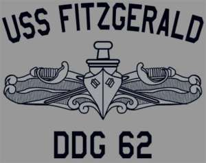 US USN Navy USS Fitzgerald DDG 62 Destroyer T Shirt