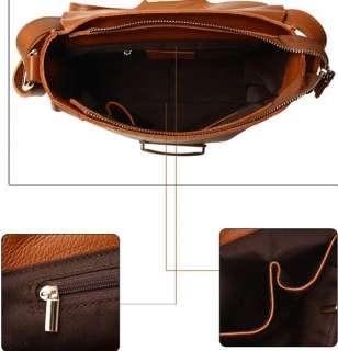 Genuine Leather Shoulder Bag Handbag Tote Satchel 3colr