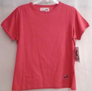 Girls Plus Size Pink White SS Cotton Top TEE Shirt NWT