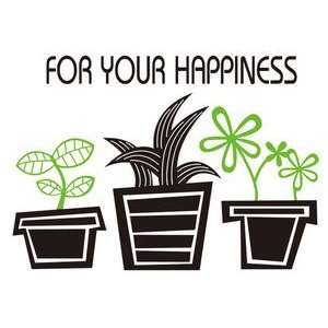 Blooming Plant Pot   Reusable Easy Instant Decoration Wall
