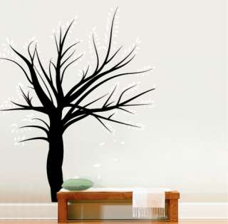 Vinyl Wall Decal Sticker Winter Tree Blossom Leaves BIG