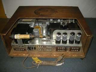 VINTAGE FISHER 800C FM STEREO TUBE AMP RECEIVER W/ORIGINAL CABINET