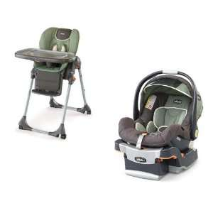 Chicco High Chair & Key Fit Car Seat in Adventure Baby