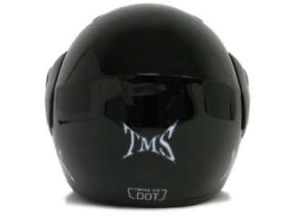 Gloss Black Flip Up Modular Full Face Motorcycle Helmet Street DOT