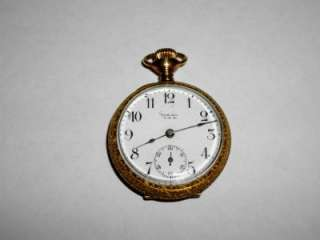 OLD PHILADELPHIA WATCH CO GOLD FILLED IDEAL POCKET WATCH #834144 NR