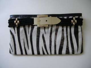 JIMMY CHOO Cow Pony Zebra Animal CLUTCH BAG Envelope