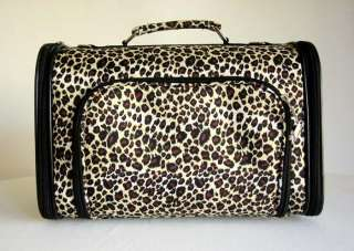 16Pet Luggage/Carrier Dog/Cat Travel Bag Purse Leopard