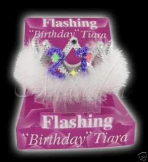 Party Fancy Dress Flashing 21st Birthday Tiara
