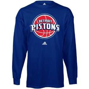 Detroit Pistons adidas Primary Logo Long Sleeve T Shirt