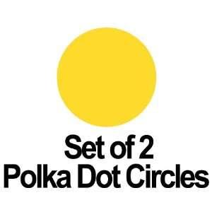 Set of 2   8 Yellow Circles Polka Dots Vinyl Wall Graphic