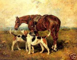 100% Handicrafts Art Farm oil Painting horse and dogs on canvas 24x36