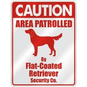 FLAT COATED RETRIEVER SECURITY CO.  PARKING SIGN DOG