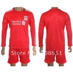 11 12 liverpool home english long sleeve high quality football soccer