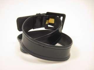 DESIGNER Navy Blue Patent Leather Belt Skinny