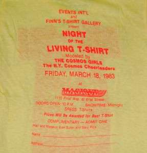 Vtg 1983 NEW YORK FINNS NIGHT LIVING SHIRT retro 80s