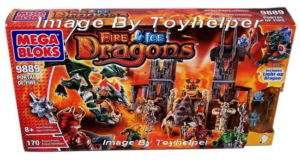 Mega Bloks 9889 FIRE & ICE DRAGONS Portal PlaySet TOY