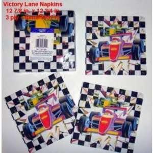Victory Lane Race Car Paper Napkins   16 Pack Case Pack
