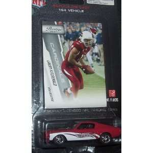 Cardinals 2010 164 Mustang Fastback Diecast Car with Larry Fitzgerald