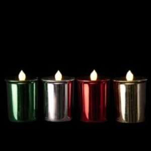 2.375 Battery Operated Flicker Led Votive Candle Case