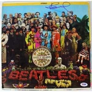 PAUL MCCARTNEY BEATLES SIGNED SGT PEPPERS ALBUM PSA/DNA