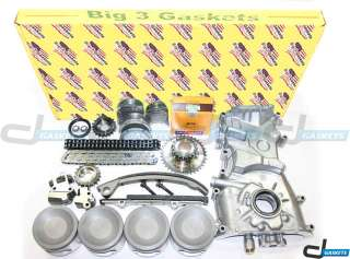 93 97 2.4L NISSAN ALTIMA KA24DE DOHC 16V OVERHAUL ENGINE KIT