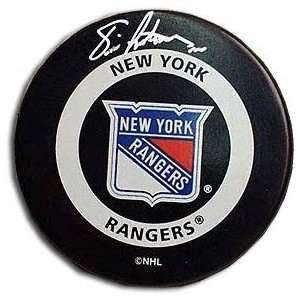 Eric Lindros Autographed New York Rangers Hockey Puck