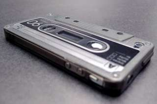 Black Cassette Tape Silicon Case for iPhone 4 4S +LCD Protector