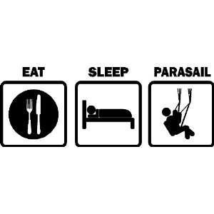EAT SLEEP PARASAIL CAR DECALS STICKERS VINYL GRAPHICS
