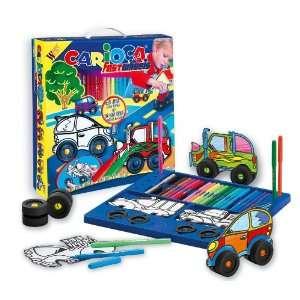 Carioca Snap Wheels Paper Car Coloring Kit Toys & Games