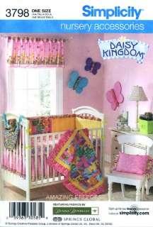 Simplicity Pattern 3798 Nursery Baby quilt, toy hammock