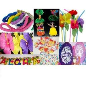 Luau Party Decorations on 167 Pc Fun Luau Party Supplies Lot Leis  Decorations