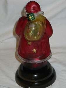 1985 Merck Old World Glass Christmas Santa Night Light T22