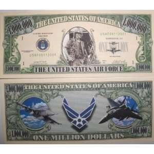 Set of 10 Bills US AIR Force Million Dollar Bill Toys & Games