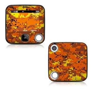 Digital Orange Camo Design Decal Skin Sticker for the Nokia