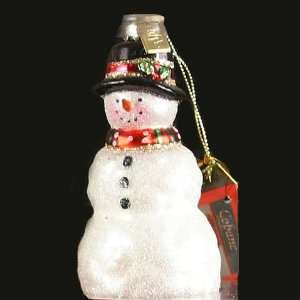 Artisan Hand Blown Front Yard Snowman Ornament