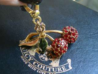 JUICY COUTURE  AUTHENTIC ENAMEL CRYSTAL CHERRY CHARM