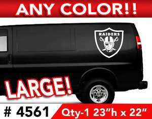 OAKLAND RAIDERS LARGE DECAL STICKER 23h x 22w