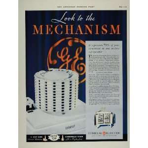 1932 Ad GE General Electric Co Monitor Top Refrigerator