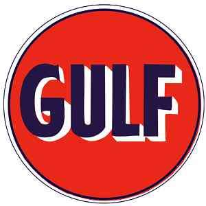 GULF Oil Gasoline Vinyl Sticker Decal 6 (vintage)