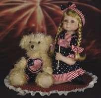 Mindy 20 Toddler Girl w/Bear Doll Duck House ~Retired