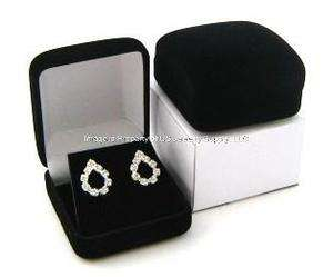 New Large Black Velvet Earring Jewelry Display Gift Boxes